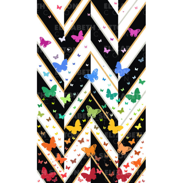 Follow The Rainbow With This Art Print. Nature's Butterflies Bear in Their Intrinsic Design The Themes of Symmetry.