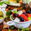 Greek salad, greek salad with olives, Greek salad with Kalamata, authentic greek salad,